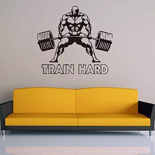 Adhesivo De Pared Duro Para Entrenamiento Body Building Muscle Gym Sport Calcomanías De Pared Fitness Vinilo Wall Art Poster Wall Paper 57X70Cm