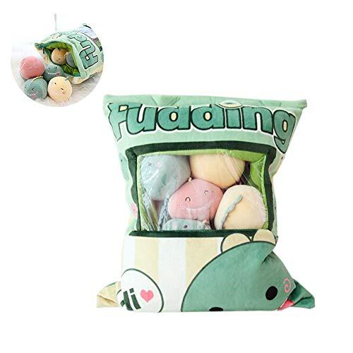 TOPFAY 1Bag Plüsch Mini Dolls Pudding Plüschtiere Simulation Innovative Snacks Puppe-weiches Sofa-Kissen für Hauptdekoration (Dinosaurier)