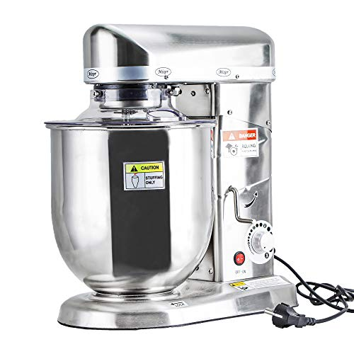 Professional 10 Liters Electric Stand Food Mixer Blender Planetary Cooking Mixer, Egg/Cake/Milk shake Beater, Dough Mixer Machine Whole Stainless Steel Made (10L Stainless Steel)
