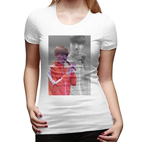 Camiseta Jhope JHOPE Flaute – Flashback VER Camiseta de manga corta Street Wear mujer camiseta azul marino grande de algodón divertido para mujer