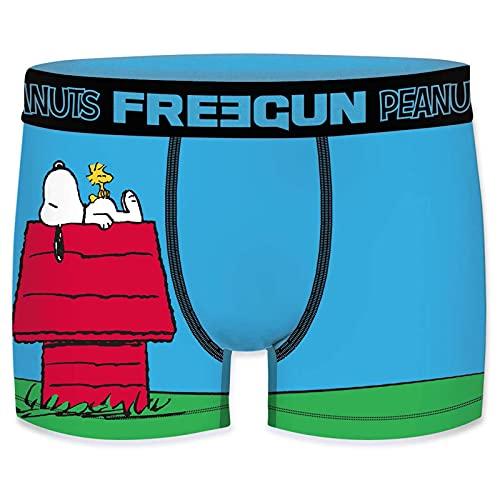 FREEGUN Boxer Homme Snoopy et Les Peanuts (M, Niche)