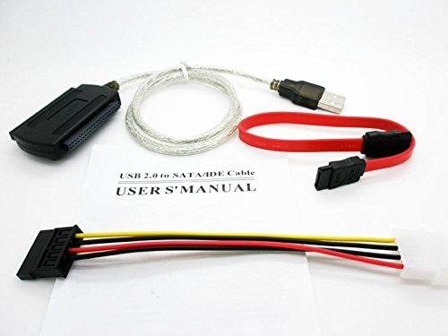 Cable Adaptador IDE SATA 2.5/3.5 a USB Conversor para Disco Duro HDD...