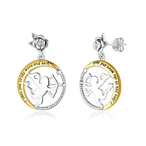 ChicSilver Cupid Ohrringe Amor Ohrstecker für Frauen Cherubs mit Pfeil und Bogen 925 Sterling Silber Geschenk für Mädchen