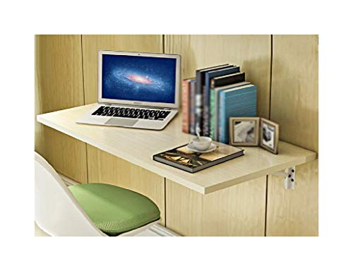 SGMYMX Ecktisch klappbar Massivholz Esstisch, Wandmontage, Computertisch, einfacher Schreibtisch, Laptoptisch Weißes Ahorn