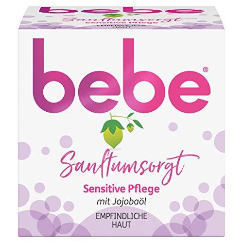 bebe Sanftumsorgt Sensitive Pflege, Gesichtscreme mit Jojobaöl, Empfindliche Haut, 50 ml