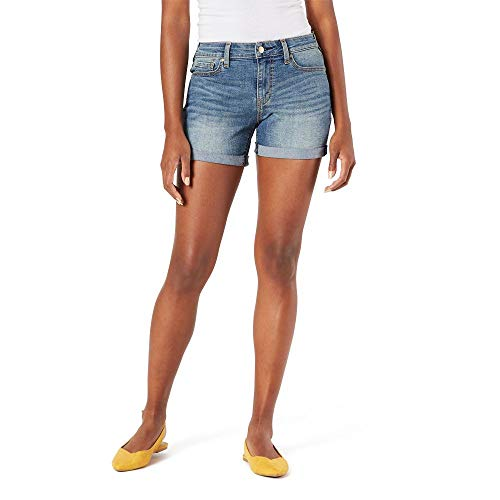 Signature by Levi Strauss & Co. Gold Label Women's Mid-Rise Shorts, Blue Ice, 6