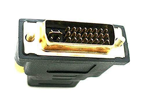 Adaptador HDMI Hembra a DVI 24+5 Macho Conector Clavija Conectores Dorados 2305b
