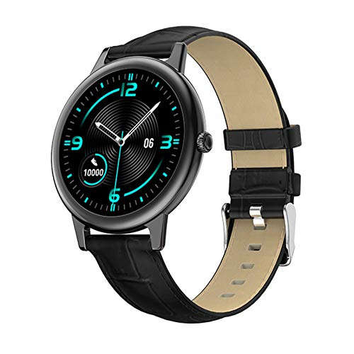 JXFF E10 Smart Watch Monitor de Ritmo cardíaco Presión Arterial IP68 Impermeable Bluetooth Sports Tracker Stopwatch Ladies GPS Sportswatch para Android iOS,A