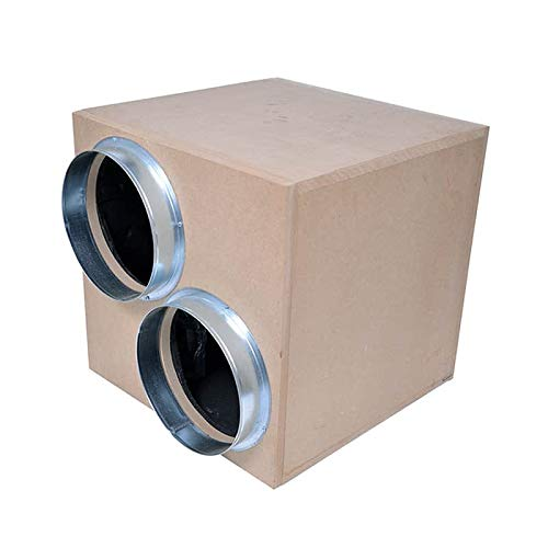 Vortex MDF 12.5' akoestische doos ventilator 4250m3/h (2 in 1 uit)