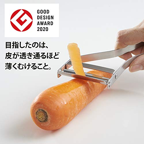 飯田屋エバーピーラー皮むき器替刃式ピーラーステンレス日本製(右きき用)JK01【2020年度グッドデザイン賞受賞】