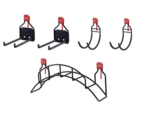 Rubbermaid Shed Large Accessory Kit with Hose Holder and Multi-Purpose Utility Hooks, Shed Organization and Storage System