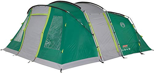 Coleman Oak Canyon 6 Tunnel Tent, Family Tent for 6 Person, Camping Tent with BlackOut Bedroom Technology, Large 6 Man Tent with 3 Seperate Sleeping Cabins, 100 Percent Waterproof 4.500 mm HH