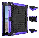 XUEMEI Accesorios De Pestañas para iPad 2 3 4, Híbrido a Prueba De Golpes Activo TPU Y Cubierta De Armadura De PC para iPad Model (Color : Purple Black)