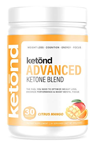 Ketond Advanced Ketone Blend — High-Performance Weight Loss Supplement - 30 Servings (Citrus Mango)