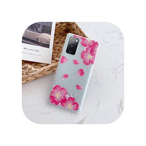 Carcasa de lujo para Samsung A01 A21S A51 S20 FE A11 A31 Cubierta trasera para Samsung Galaxy S 20 A 11 31 21S 51 - Rojo oscuro A315 A315F A315DS