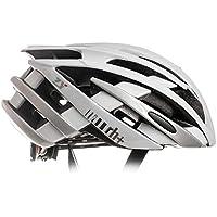 Zero RH+ Helmet ZY - Casco de Bicicleta Permanente Unisex – Adulto, Shiny White – Shiny Silver, XS/M
