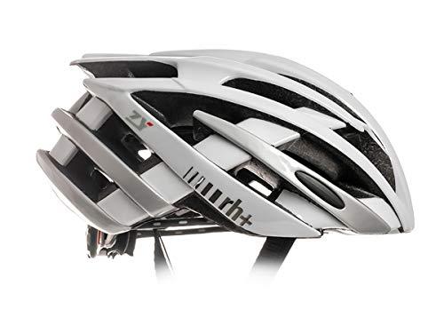 zerorh+ Helmet ZY, Caschi Bici Bike Helmets Permanent Unisex – Adulto, Shiny White-Shiny Silver, L/XL