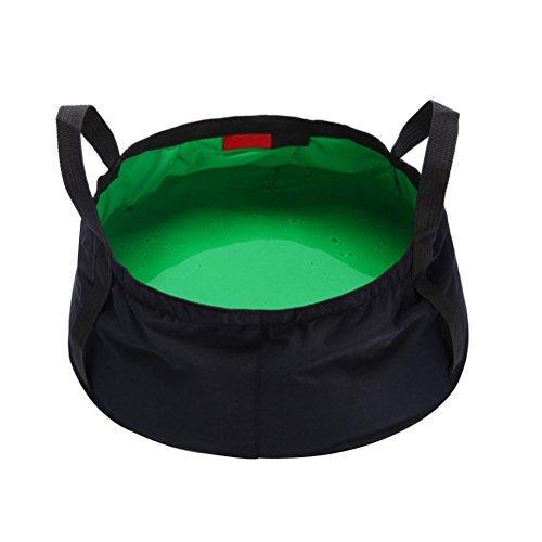 WINOMO Seau Pliable Sac à Eau Portable pour Voyage Camping Pique-nique Pêche Randonnée (Vert)