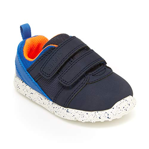 Morbido Infant Baby Boys Girls Canvas Toddler Sneaker Anti-Slip First Walkers Candy Shoes, Aa/Navy Blue, 12-18 Months Infant