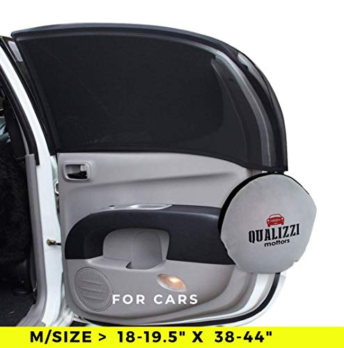 """M/Car Window Shade Protection for Baby. Backseat Sun Shades Cover Full Contoured Windows Up to 19.5"""" x 38-44"""" (2-Pack)."""