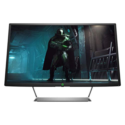 HP - Gaming Pavilion Gaming 32 Monitor HDR, Schermo VA QHD, High Dynamic Range, Risoluzione 2560 x 1440, Frequenza 75 Hz, Tecnologia AMD Freesync, Antiriflesso, Reclinabile, HDMI, Display Port, Nero