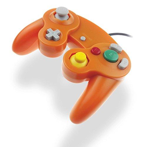 GC Controller Joystick für Wii Wired Game Controller Joypad Dual Vibration NGC Gamepad Game Cube Original Controller GC Spiele für GameCube & Wii (Orange)