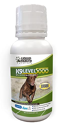 Liquid Health K9 Level 5000 Glucosamine Chondroitin Opti MSM 8 oz