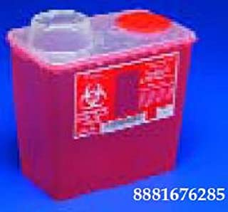 8 Quart Red Chimney Top Sharps Container, 1 ea