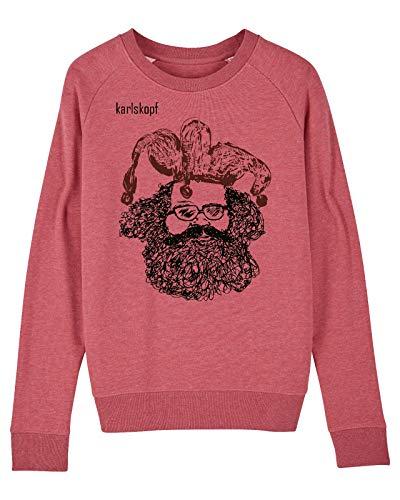 Damen Sweater Pullover Casper, Größe: Small, Farbe: Rot
