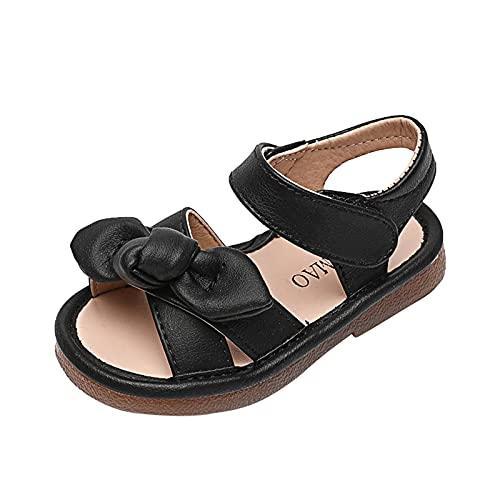 AIni Baby Schuhe,Mode Beiläufiges Kleinkind Kleinkind Kinder Baby Mädchen Bowknot Single Princess Schuhe Sandalen Lauflernschuhe Kleinkinder Schuhe Krabbelschuhe (27,Schwarz)