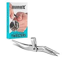 DuroX-Tool | とげ抜きピンセット | とげぬき | トゲ取り | イボ取り | 水イボピンセット | 精密ピンセット | 先細・先曲がり鑷子 | 洗練された先端 | 完璧な噛み合わせ | 鉄片、木片、ガラスなどの破片、鋭利な破片をつまんで取り除く
