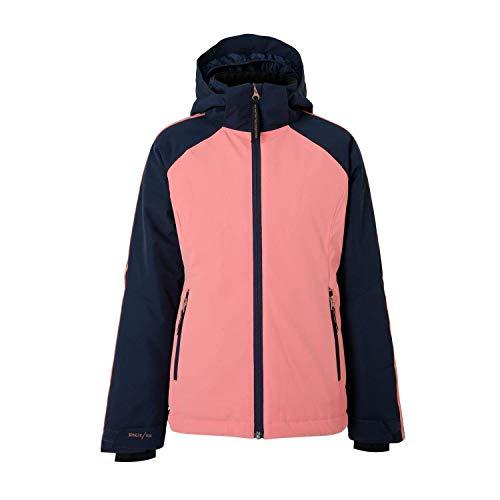 Brunotti ski-jack snowboardjas Malleefowl JR Girls snowjacket roze winddicht