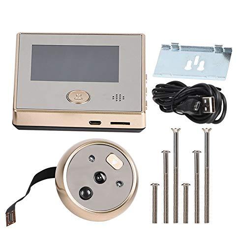 ASHATA Digital Door Spy,Cámara de Video con Pantalla TFT-LCD de 2,8 Pulgadas HD con Gran Angular de 135 Grados, infrarrojo Visor de visión Nocturna Cámara de Seguridad Timbre de Video Inteligente