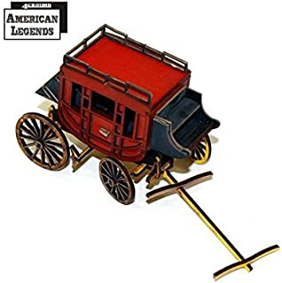 Terrain - Camps, Carts & Wagons 28mm Stagecoach (Pre-Painted)