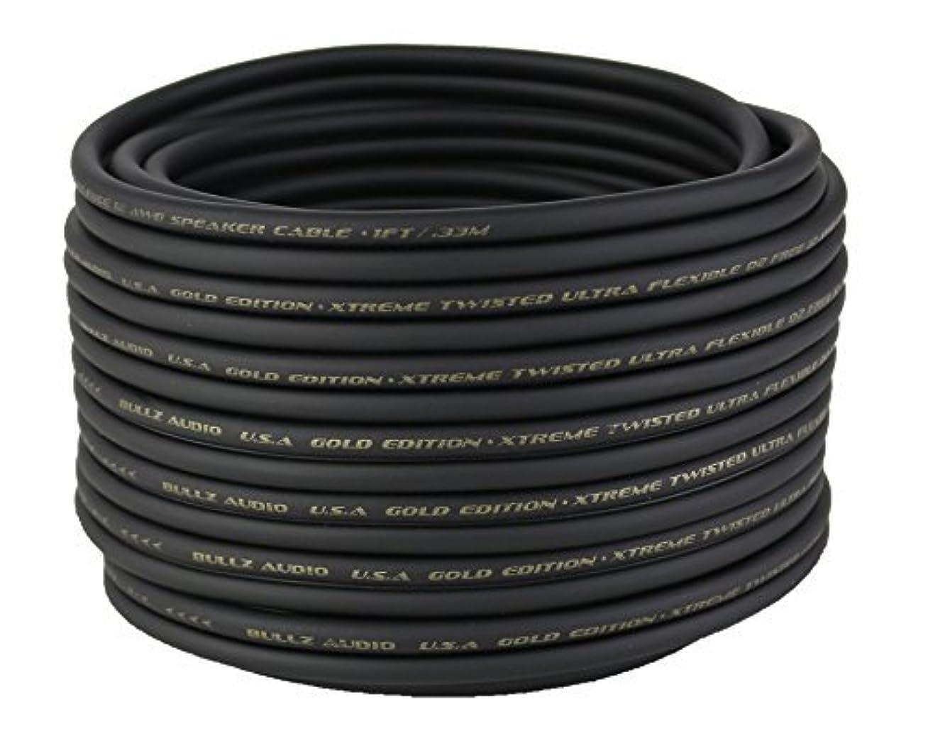 ガレージよく話される忠誠Bullz Audio BGES12.100 100' 12 Gauge AWG Car Home Audio Speaker Wire Cable Spool (Black) [並行輸入品]