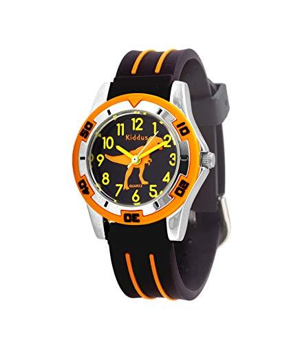 KIDDUS Qualitätsuhr für Mädchen, Jungen, Kinder. Analoge Armbanduhr mit Zeitlernübungen, japanischen Quarzwerk, gut lesbar, um ganz leicht zu Lernen, die Uhr zu lesen