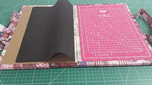 Kit de viaje patchwork con Base de corte de 24x32 cm (en centímetros y en pulgadas)