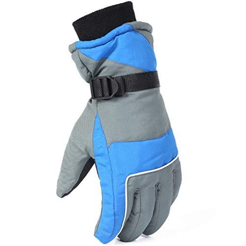 JIE KE Heren lederen handschoenen heren Warm Winter Dames Winter Skiën Outdoor Verdikking Plus Fluweel Koud Winddicht Herfst En Winter Katoen Wandelen Motorfiets Rijden Fietsen Winter Rijden Zwart