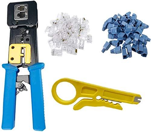 Kit de herramientas para el hogar, herramientas ma Herramienta Herramienta de bricolaje en casa Conjunto RJ45 Crimp for pasar a través y Legado 6P 8P kit de herramientas de hardware multi-función de c