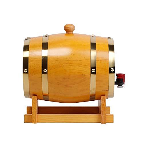 YANGUANG Barriles de Roble Barril De Vino De Roble, Dispensador de Barril de Madera 3L, for Almacenamiento de Buen Vino, Brandy, Whisky, Tequila (Color : C, Size : 3L)