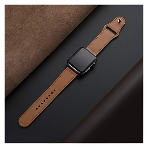 YMYGCC Correa Reloj Correa de Bucle de Cuero Genuino para Banda de Reloj 42mm 44mm 38mm 40mm Reloj de Reloj para Ver 6 5 4 3 2 1 44 mm 42 mm 711 (Band Color : Brown, Band Width : 40mm)