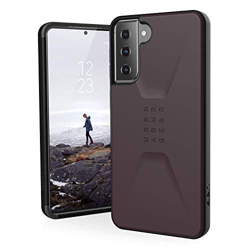 Urban Armor Gear Civilian Funda Protectora Samsung Galaxy S21+ 5G (6,7') Cubierta - (Compatible Carga inalámbrica, Resistente a Las caídas, Parachoques Ultra Fino) - púrpura (Eggplant)