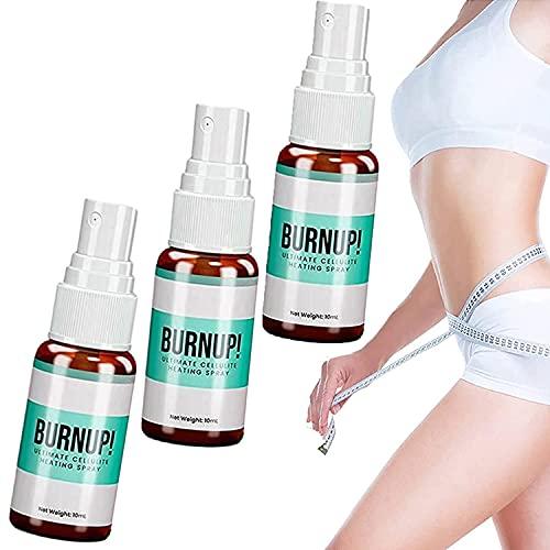 Burnup Ultimate Cellulite Heating Spray, Aerosol Anticelulítico a Base de Hierbas para Bajar de Peso, Adelgazar el Cuerpo, Absorción Rápida (3 piezas)