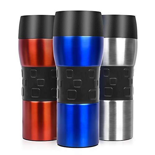 Opard Travel Mug 350ml Thermobecher Kaffee, Reisebecher mit 360° Trinköffnung, Isolierbecher für Heiße/Kalte Getränke, Trinkbecher, Kaffeebecher