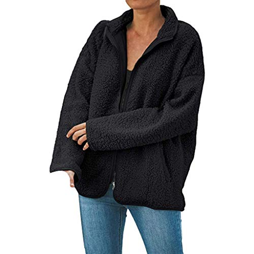 Dasongff pluche mantel dames zwart teddy fleece mantel licht jas warm losse teddyjas teddyvel elegant overcoat pluche jas winterjas outwear winterjas