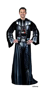 Disney Star Wars  Being Darth Vader  Adult Soft Throw Blanket with Sleeves 48  x 71  Multi Color