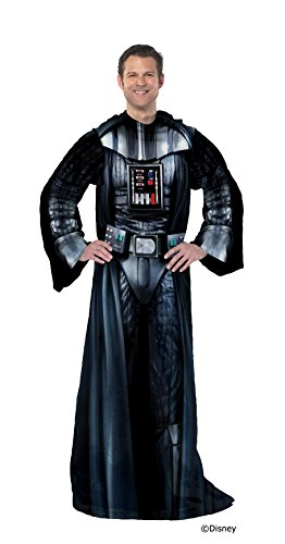 Star Wars Comfy Throw Blanket with Sleeves, Adult-48 x 71 Inches, Being Darth Vader