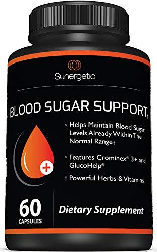 Premium Blood Sugar Support Supplement – Helps Support Healthy Blood Sugar & Glucose Levels – Includes Bitter Melon Extract, Vanadium, Chromium, Cinnamon, & Alpha Lipoic Acid (60 Capsules)