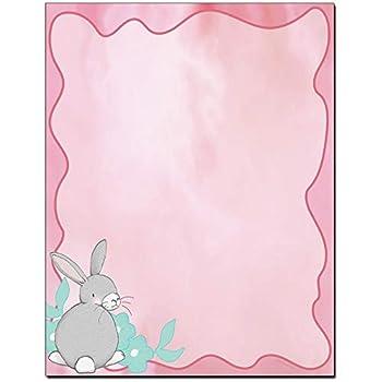 Pastel Bunny Easter Letterhead Laser & Inkjet Printer Paper  100 Sheets