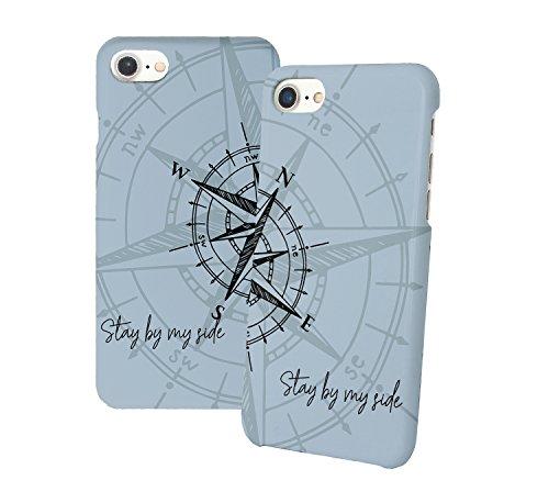 Compas Stay By My Side Iphone Relazione Amicizia Accoppiamento Custodia Protettiva In Plastica Rigida Phone Case PerIil Migliore Amico iPhone 6, 6s, 7, 7 Plus, 6 Plus, 8, X Case